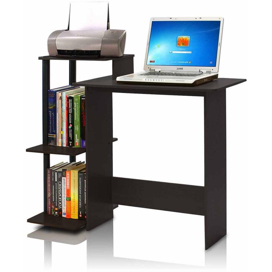 Morgan Computer Desk With Hutch Espresso For 2018 Desks Printer Shelf