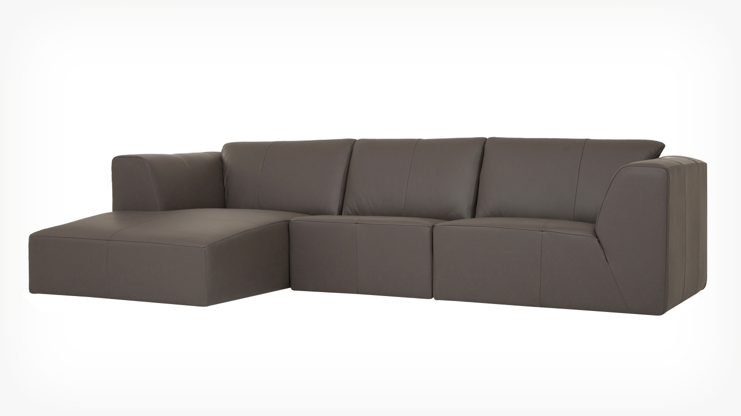 Morten 3 Piece Sectional Sofa With Chaise – Leather (View 4 of 20)