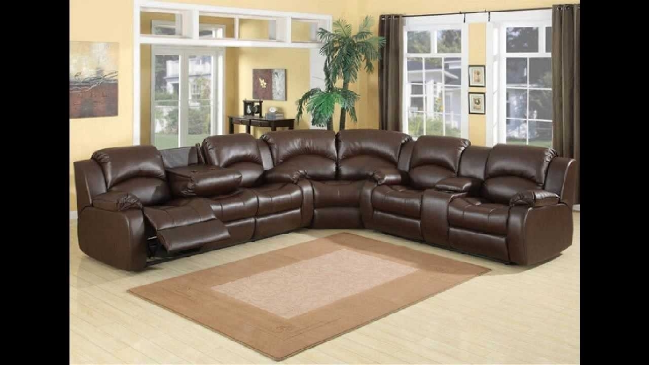 Most Current 3 Pc Samara Chocolate Bonded Leather Sectional Sofa With Recliners Within Leather Recliner Sectional Sofas (View 12 of 20)
