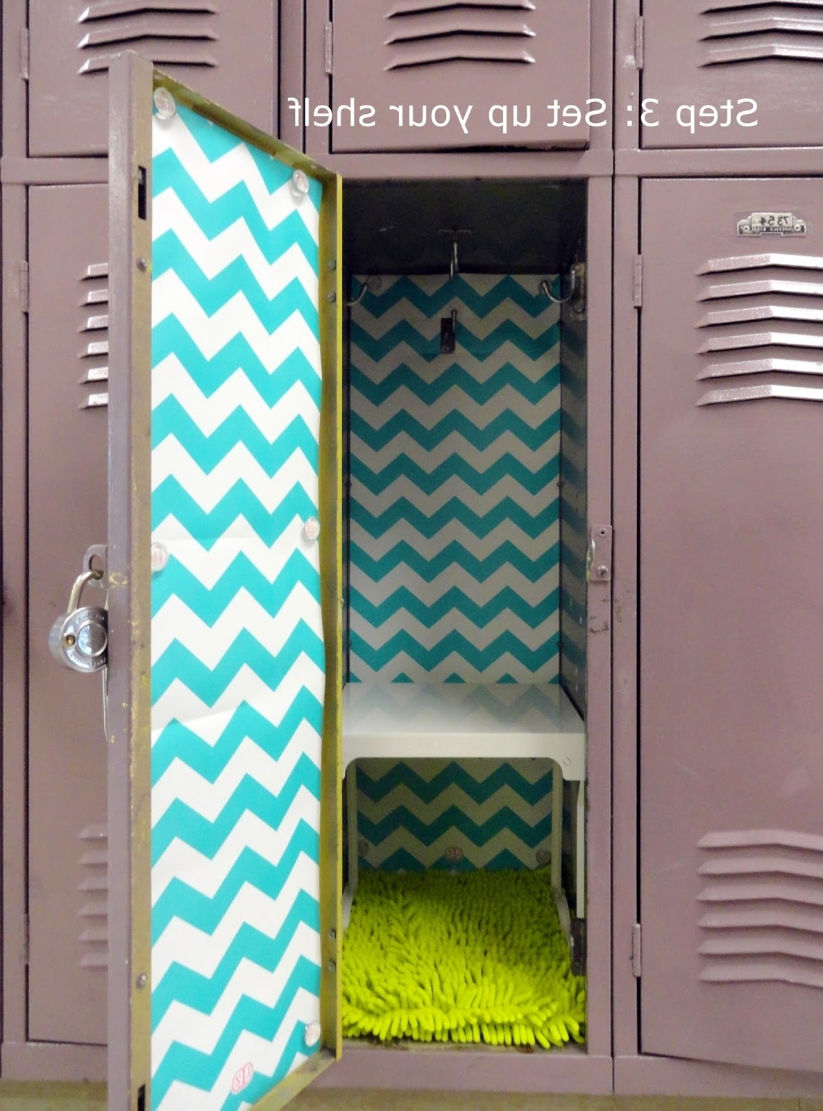 Most Current 5 Simple Steps To Decorating A Fabulous Locker With Locker Lookz In Turquoise Locker Chandeliers (View 9 of 20)