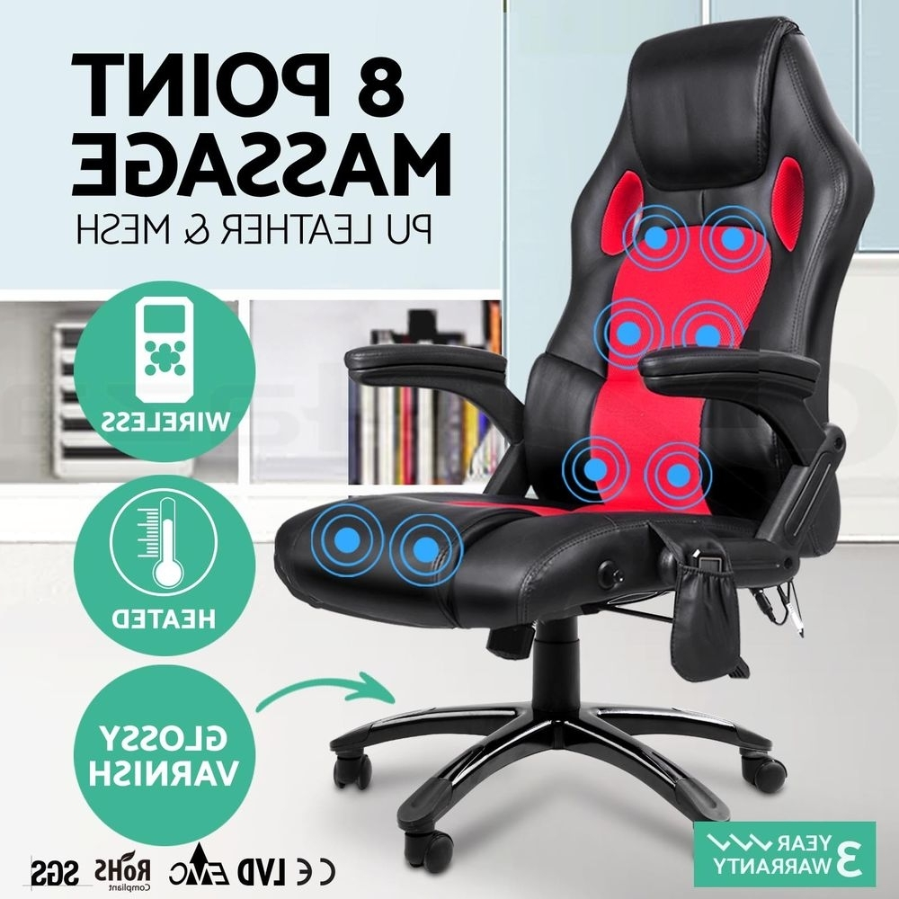 Most Current 8 Point Massage Executive Office Computer Chair Heated Recliner Pu Regarding Executive Office Chairs With Massage/heat (View 15 of 20)