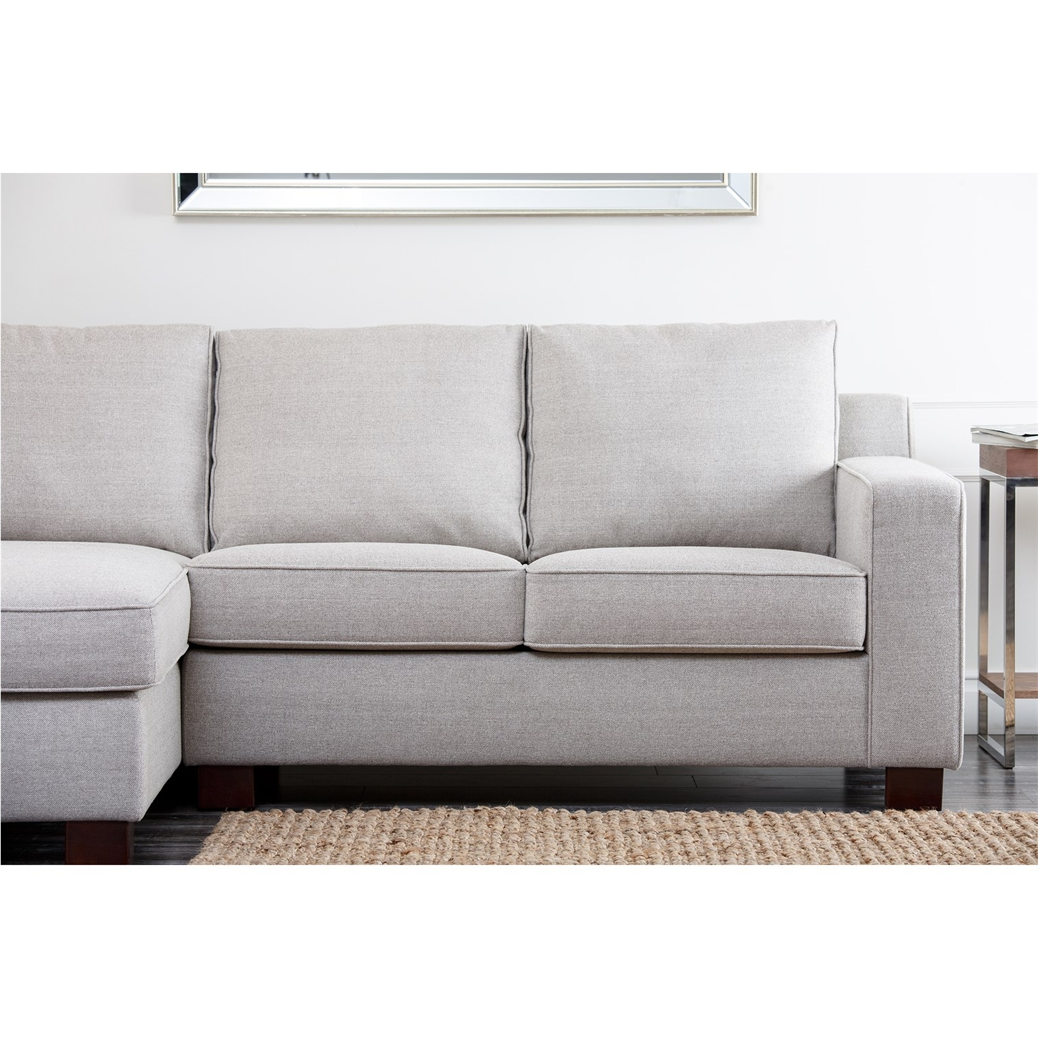 Most Current Abbyson Living Rl 1321 Gry Regina Grey Fabric Sectional Sofa In Regina Sectional Sofas (Gallery 1 of 20)