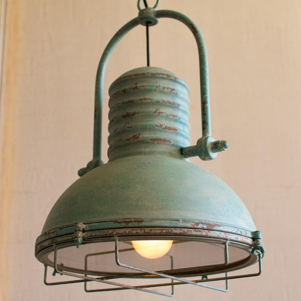 Most Current Antique Turquoise Pendant Light (View 6 of 20)