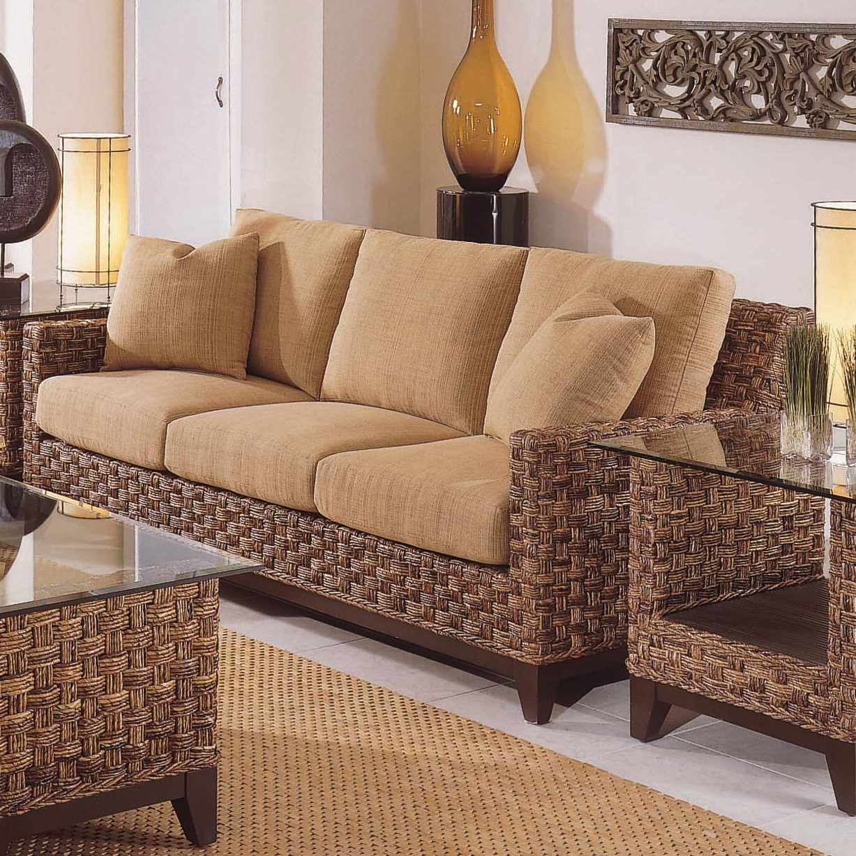 Most Current Braxton Culler Tribeca 2960 Modern Wicker Three Seat Queen Sleeper Inside Braxton Sofas (View 4 of 20)