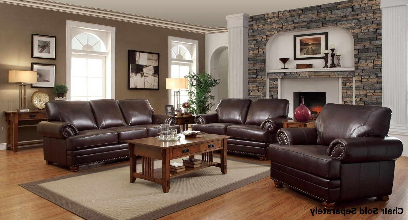 Most Current Colton Brown Leather Sofa And Loveseat Set – Steal A Sofa With Regard To Brown Sofa Chairs (View 19 of 20)