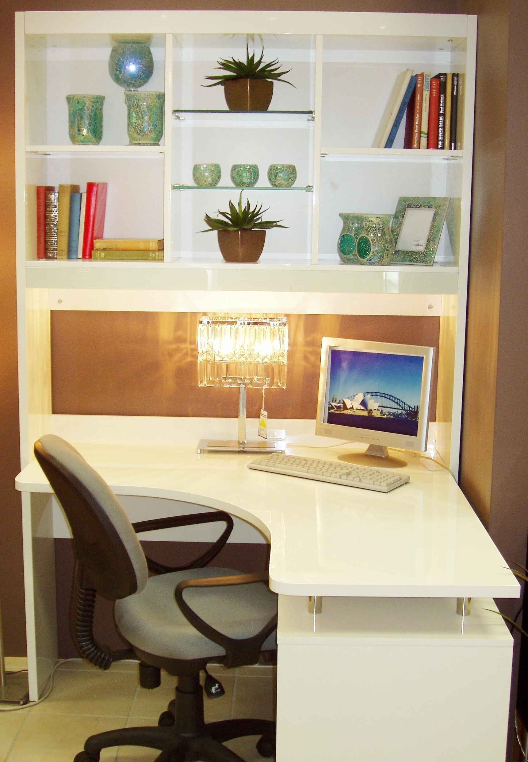 Most Current Computer Desks With Bookshelves Within Interior. Desk Shelves Interior Designs (View 15 of 20)