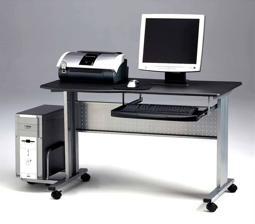 Most Current Computer Desks With Wheels Within Office Desk : Computer Desk With Drawers Home Computer Desks Cheap (View 10 of 20)