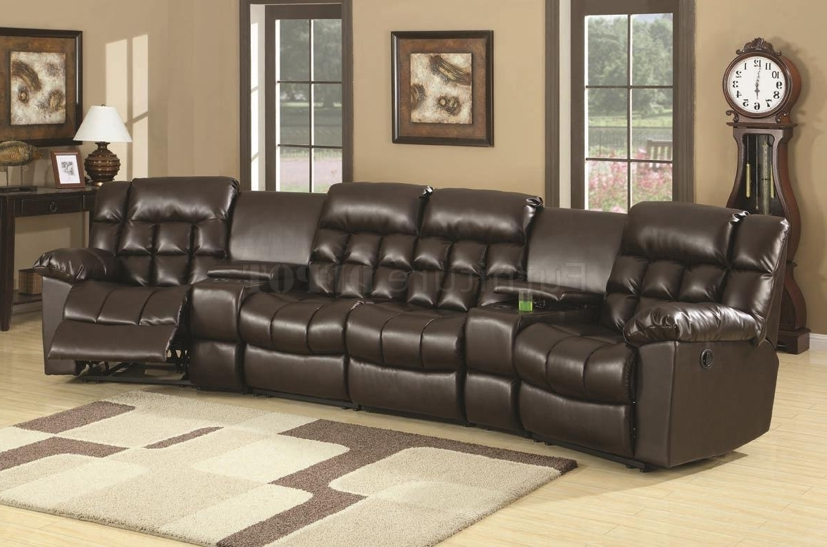 Most Current Curved Sectional Sofas With Recliner With Regard To Curved Sectional Recliner Sofas – Tourdecarroll (View 12 of 20)