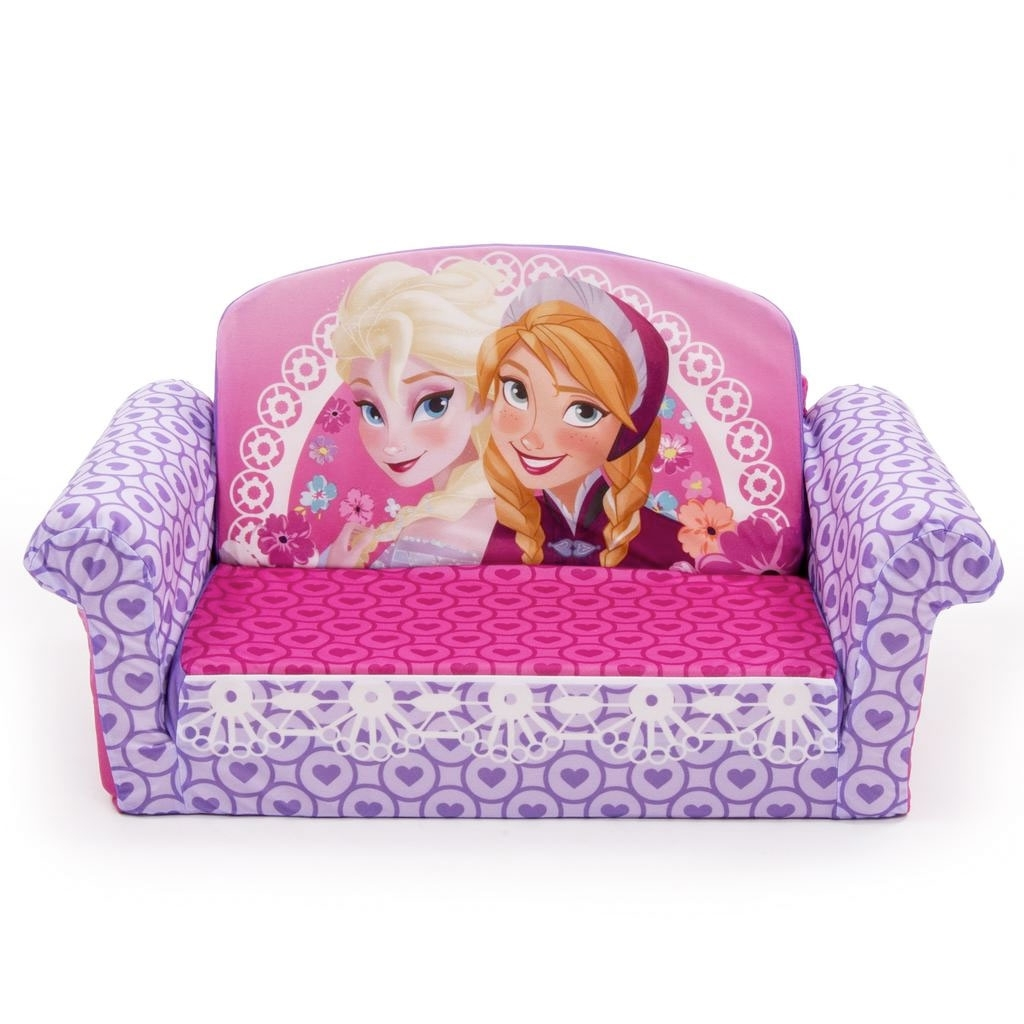 Most Current Disney Sofa Chairs Intended For Spin Master – Marshmallow Furniture Flip Open Sofa Disney Frozen (View 8 of 20)
