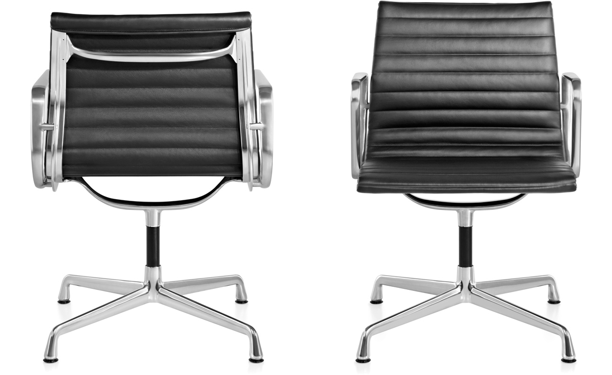 Most Current Executive Office Side Chairs With Eames® Aluminum Group Side Chair – Hivemodern (View 18 of 20)