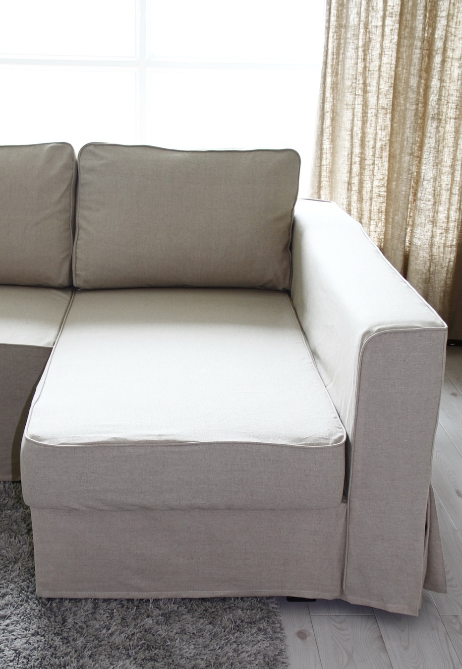 Most Current Fit Linen Manstad Sofa Slipcovers Now Available With Regard To Manstad Sofas (View 11 of 20)