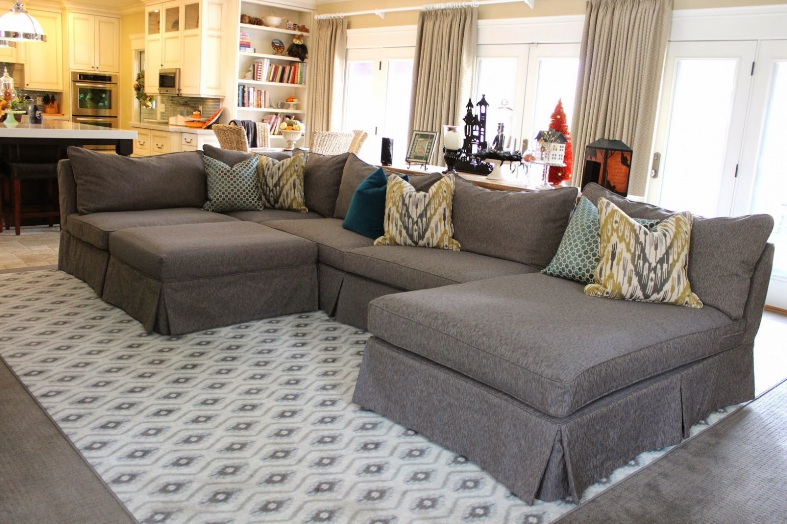 Most Current Furniture: Grey Sectional From Slipcovered Sectional Sofa Pottery Throughout Pottery Barn Sectional Sofas (View 15 of 20)