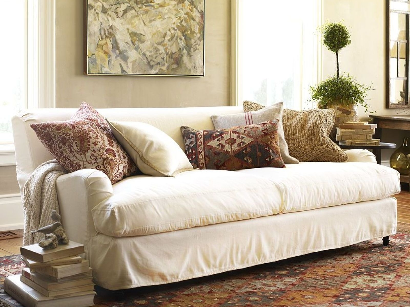 Most Current Furniture Washable Slipcovered Sofas As Well Brown Sleeper Sofa Throughout Washable Sofas (View 4 of 20)