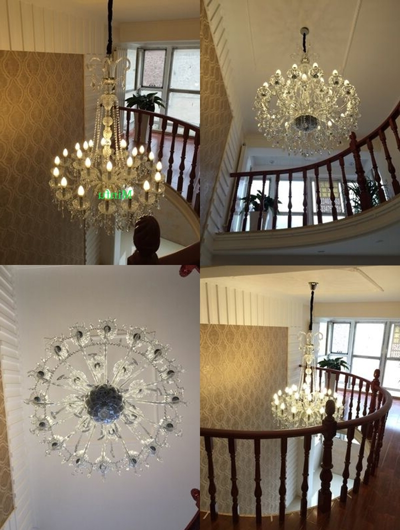 Most Current High Ceiling Chandeliers Crystal Ball Chandelier Modern Staircase Throughout Stairwell Chandeliers (View 5 of 20)