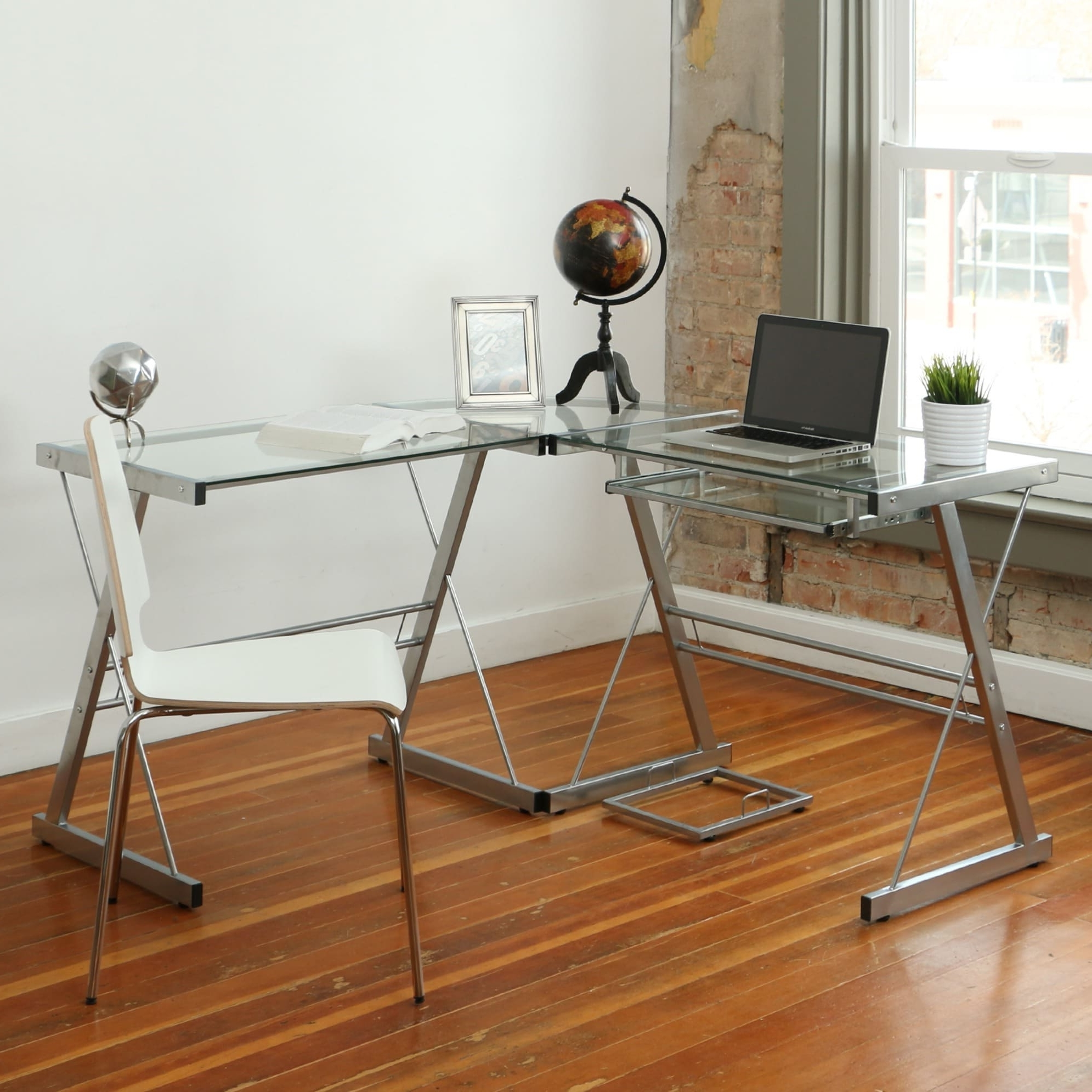 Most Current L Shape Glass Corner Computer Desk – Free Shipping Today Regarding Glass Corner Computer Desks (View 11 of 20)