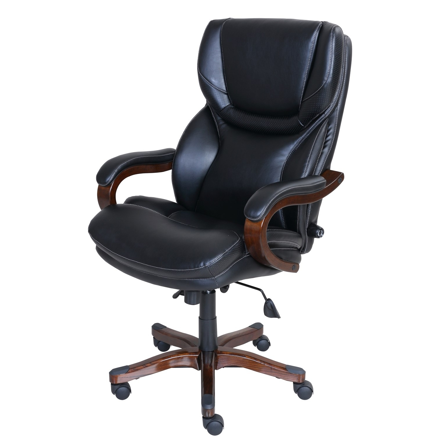 Most Current La Z Boy Executive Office Chairs Pertaining To Serta At Home 46859 Executive Office Chair In Black With Bonded (View 14 of 20)