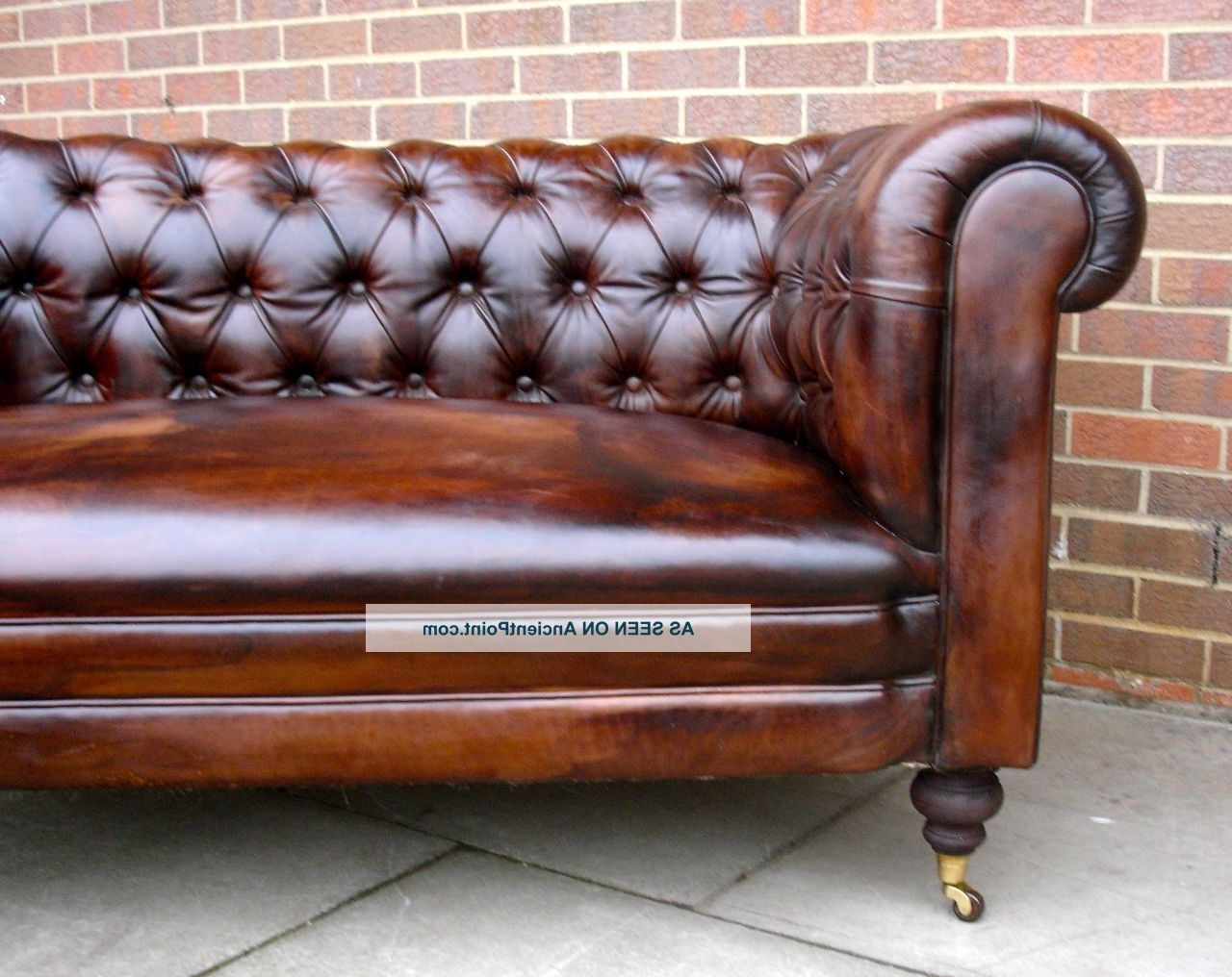 Most Current Leather Chesterfield Sofas In Used Leather Chesterfield Sofa – Home And Textiles (View 14 of 20)