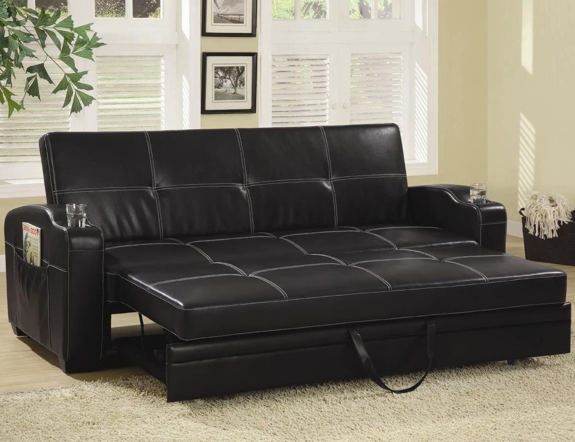 Most Current Leather Sofas With Storage Intended For Looking Classy, Elegant, And Stylish With Leather Sofa Bed (View 13 of 20)