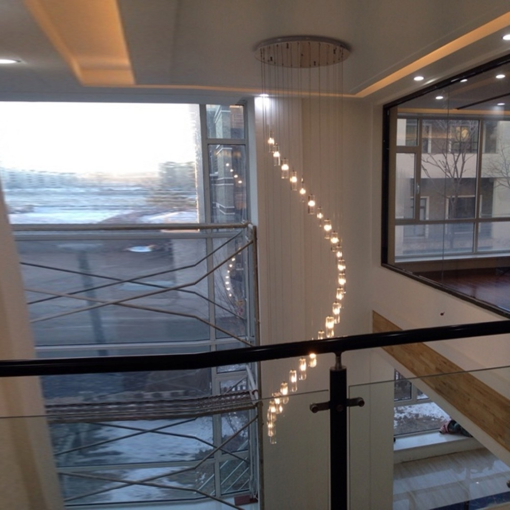 Most Current Led Indoor Stair Lighting Fixtures Crystal Chandelier Lighting Long Pertaining To Staircase Chandeliers (View 6 of 20)