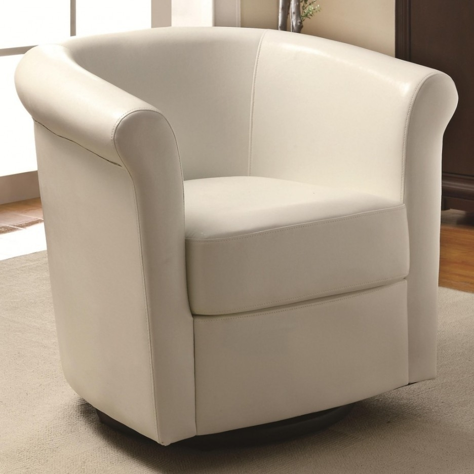 Most Current Living Room Living Room Furniture Idea Of Single White Sofa Chair In Round Swivel Sofa Chairs (View 10 of 20)