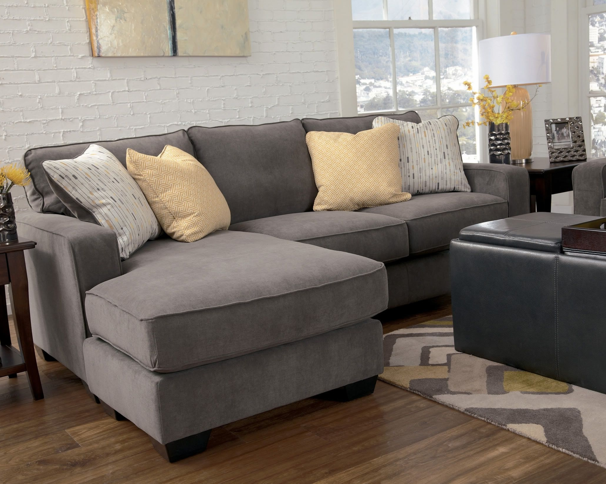 Most Current Marble Contemporary Sofa Chaise Living Room Furniture Fabric Intended For Mini Sectional Sofas (View 19 of 20)