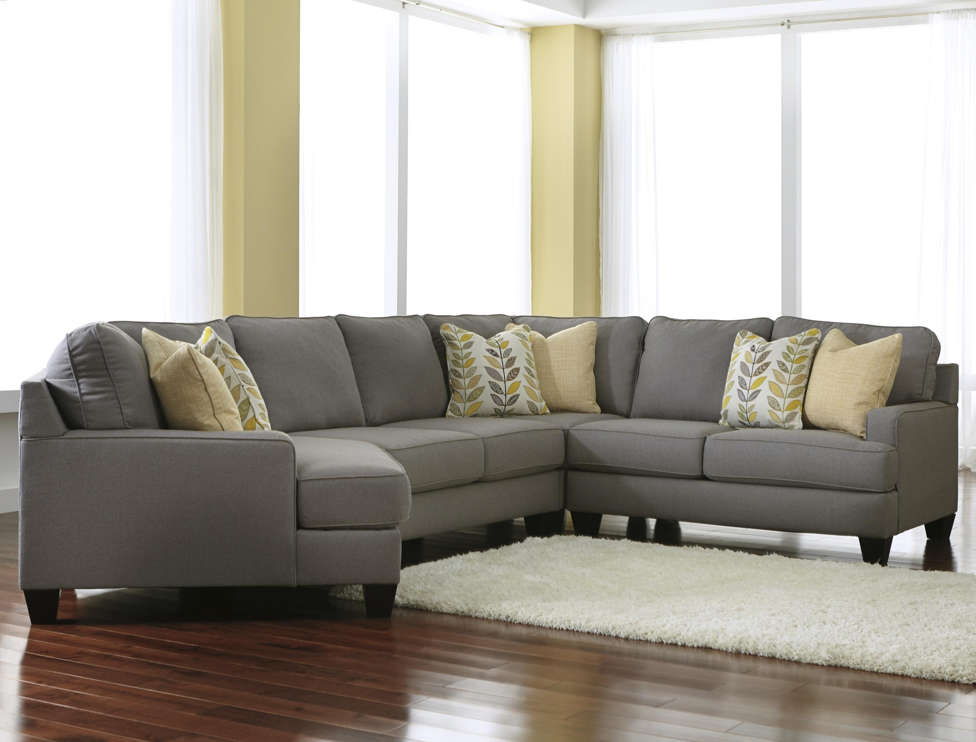 Most Current Modern 4 Piece Sectional Sofa With Right Cuddler & Reversible Seat Regarding Cuddler Sectional Sofas (View 13 of 20)