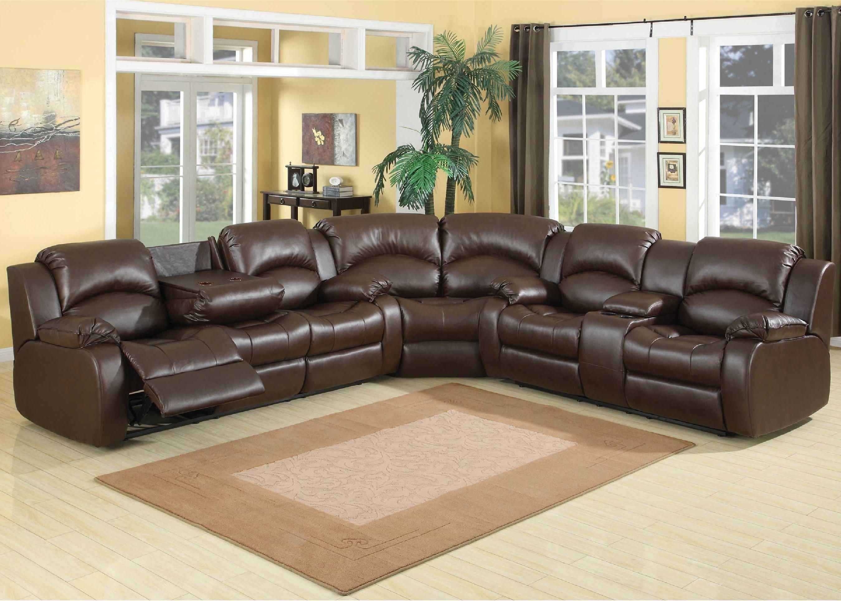Most Current Natuzzi Leather Reclining Sectional Fabric Power Reclining In Reclining U Shaped Sectionals (View 8 of 20)