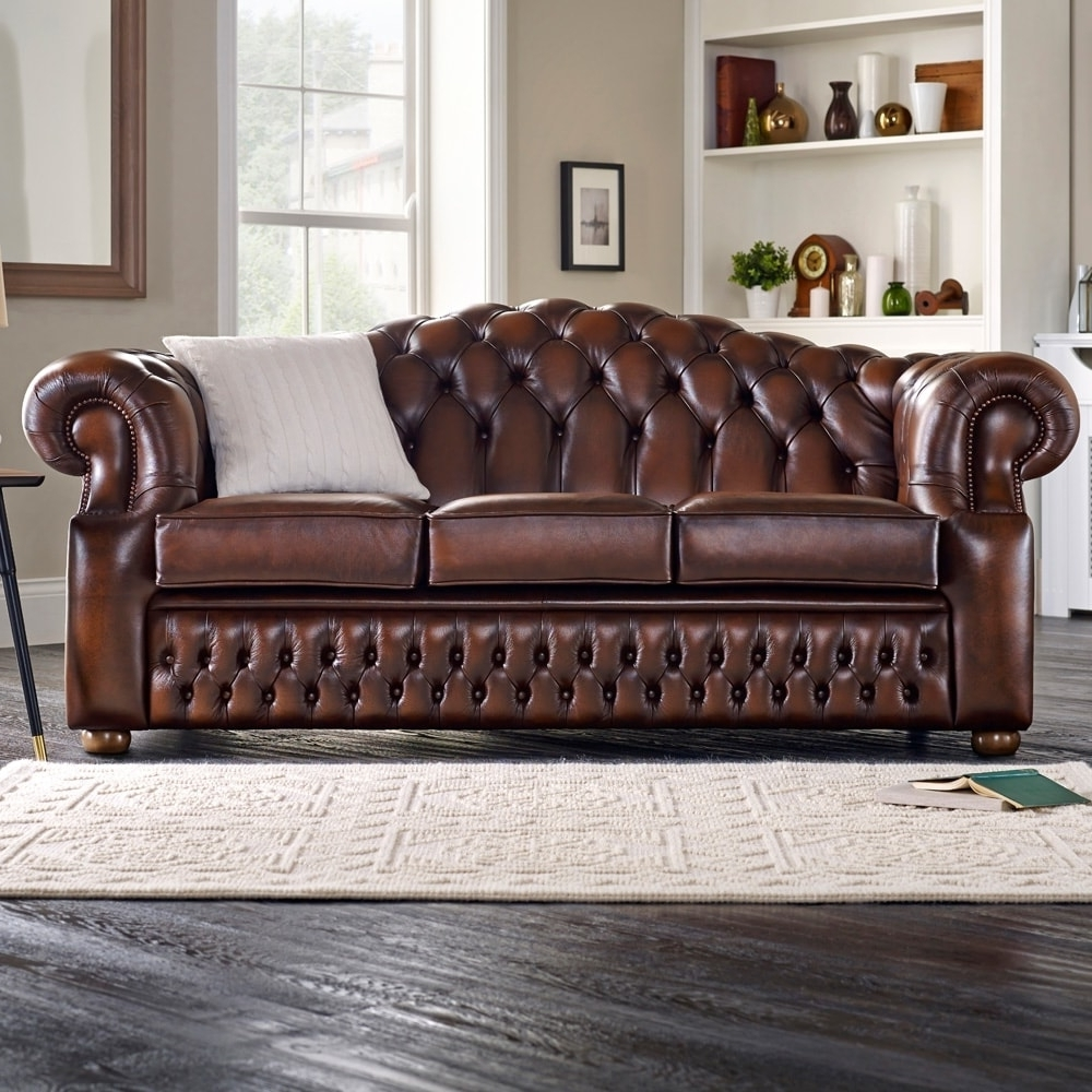 Most Current Oxford Sofas Pertaining To Oxford 3 Seater Sofa – From Sofassaxon Uk (View 2 of 20)