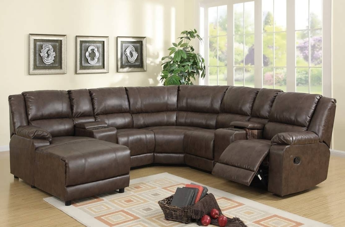 Most Cur Reclining U Shaped Sectionals Within Unique Sectional Sofa With Recliners Buildsimplehome
