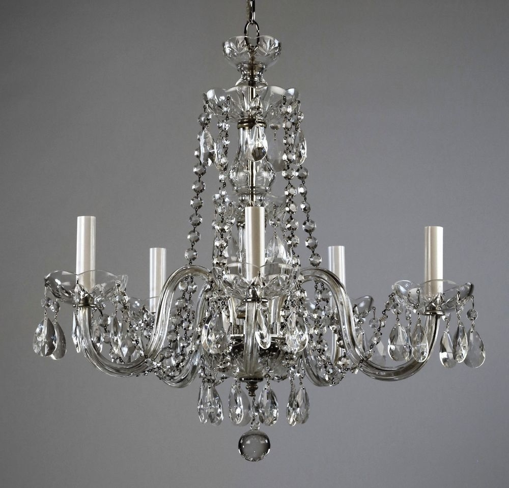 Most Current Restored Waterford $499 Waterford Style Crystal Chandelier C1950 Within Vintage Style Chandelier (View 13 of 20)