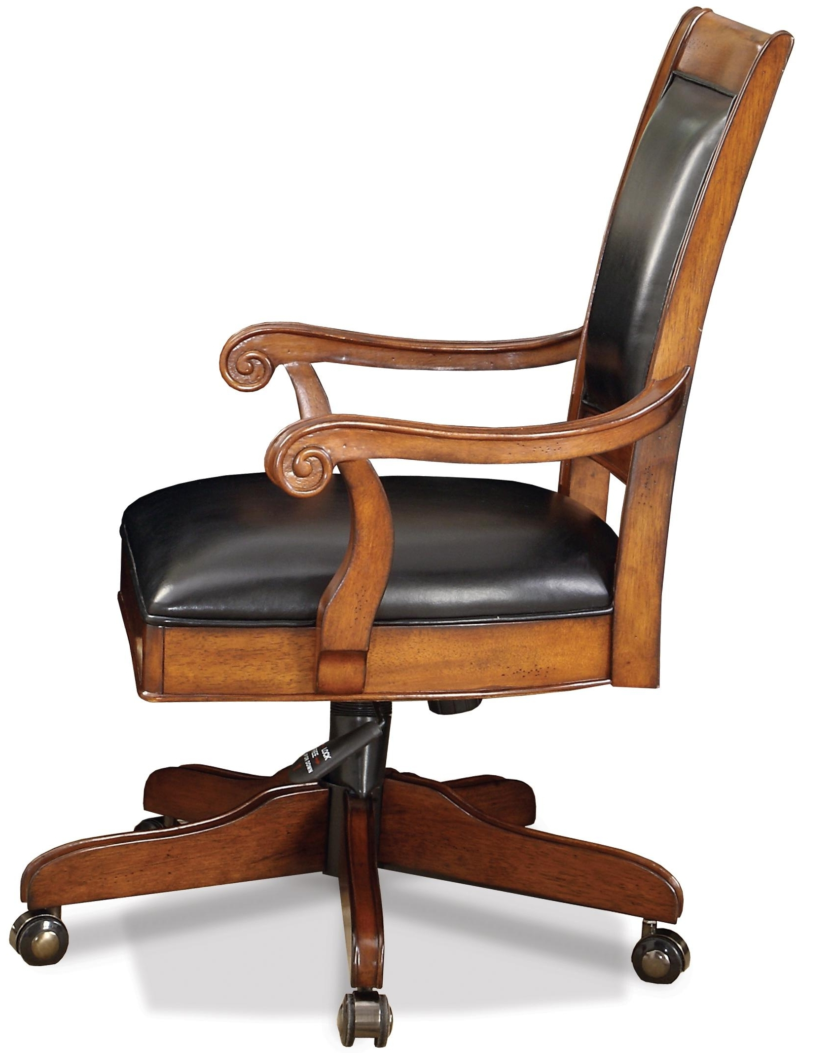 Most Current Riverside Furniture Cantata Executive Desk Chair With Casters Intended For Leather Wood Executive Office Chairs (View 13 of 20)