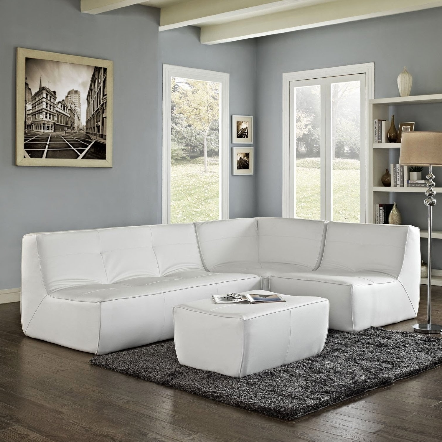 Most Current Sectional Modern Sofa Interior White Button Leather Furniture Pertaining To Vancouver Bc Canada Sectional Sofas (View 20 of 20)
