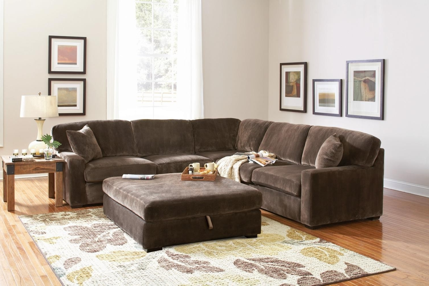Most Current Sectional Sofa Design: Simple Sectional Leather Sofas With Pertaining To Sectionals With Oversized Ottoman (View 15 of 20)