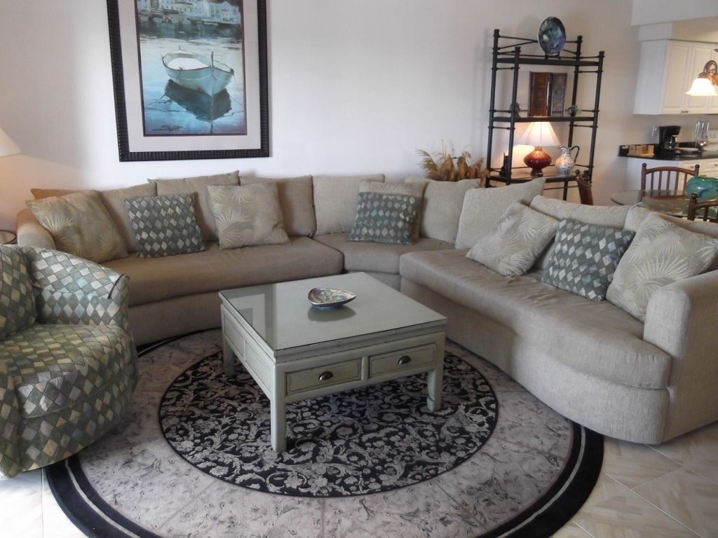 Most Current Sectional Sofas For Condos Throughout Admiral's Quarters Spacious Condo With Fron – Vrbo (Gallery 7 of 20)
