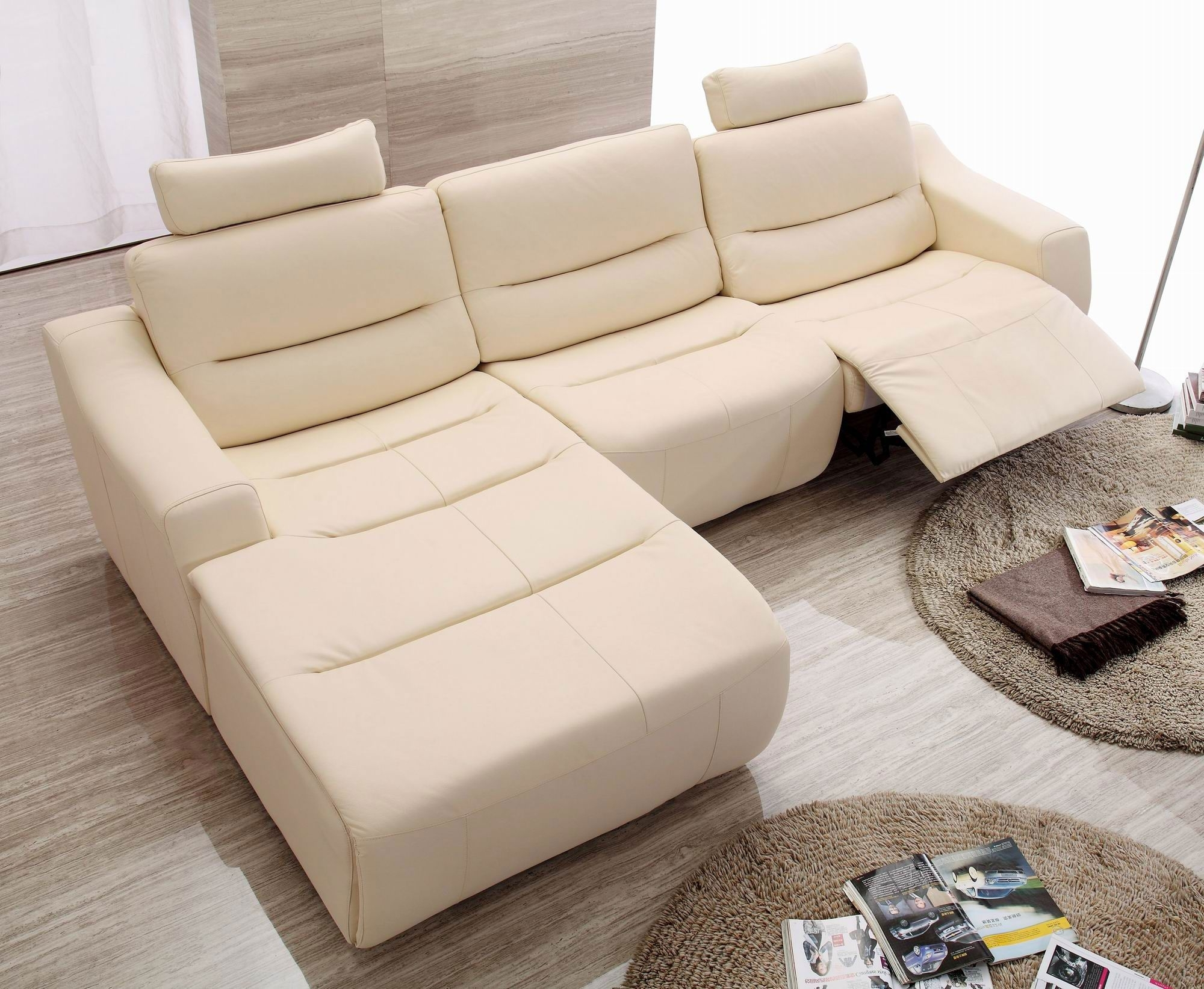 Most Current Sectional Sofas With Recliners For Small Spaces For White Or Beige Modern Contemporary Sofa With Chaise – Google (View 8 of 20)