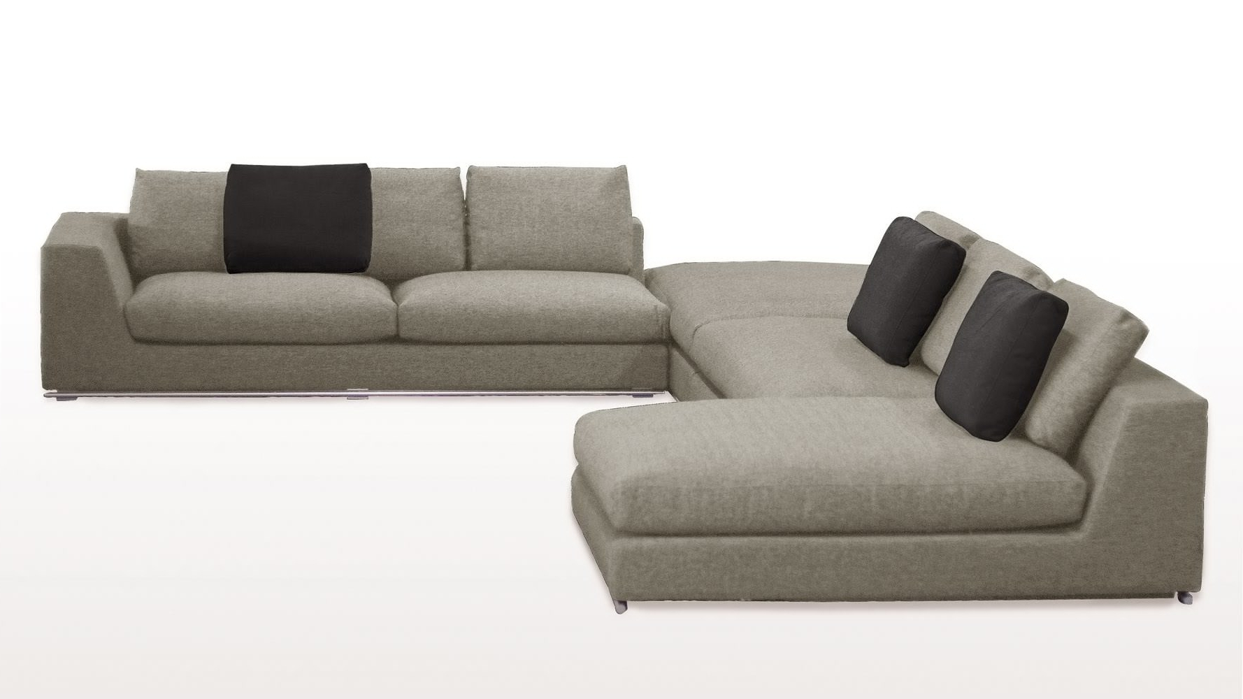 Most Current Small Armless Sofas Regarding Sectional Sofa Design: Armless Sectional Sofa Covers Small Spaces (View 5 of 20)