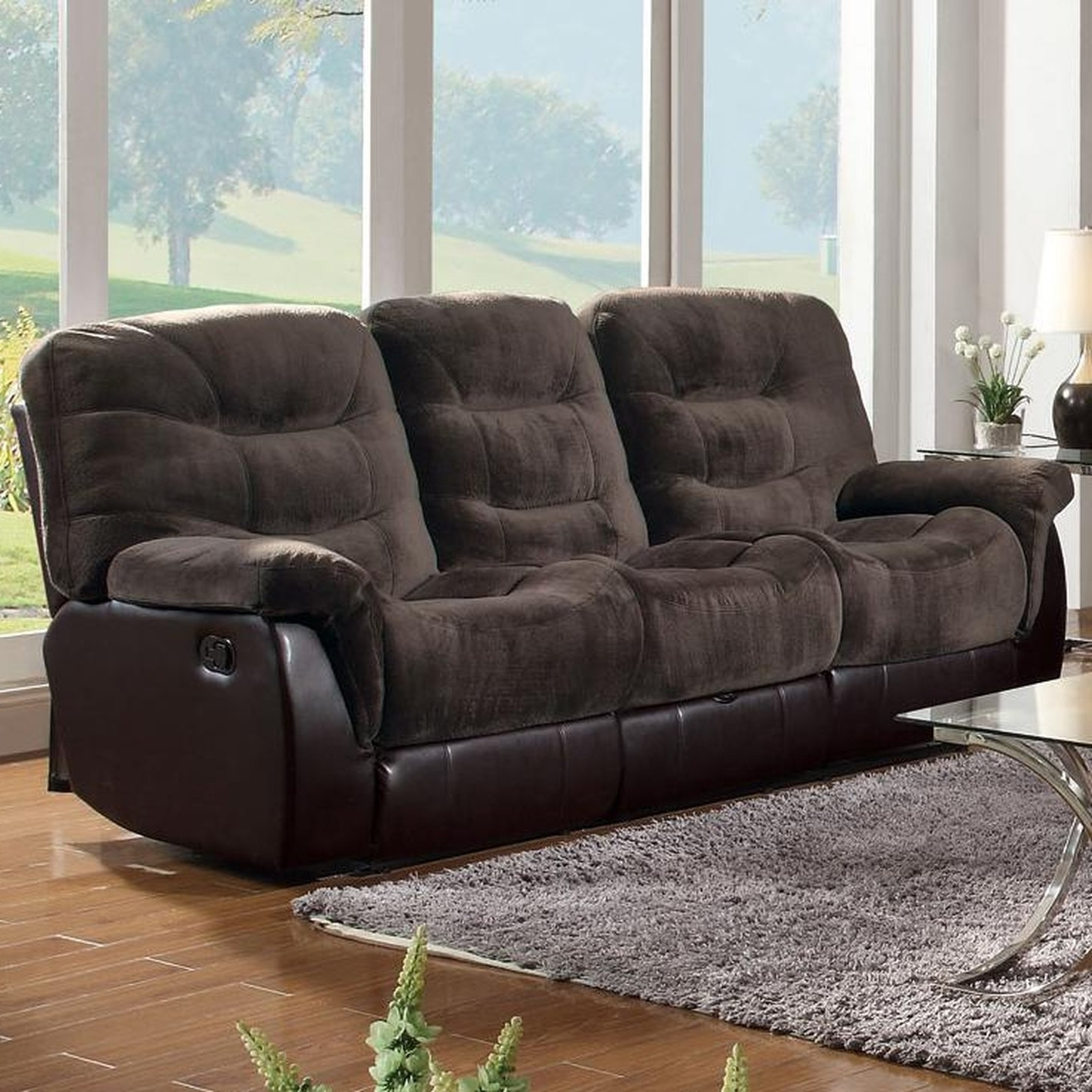 Most Current Sofa : Fabric Sectional Sofa With Power Recliner Fabric Recliner With Regard To Jedd Fabric Reclining Sectional Sofas (View 2 of 20)