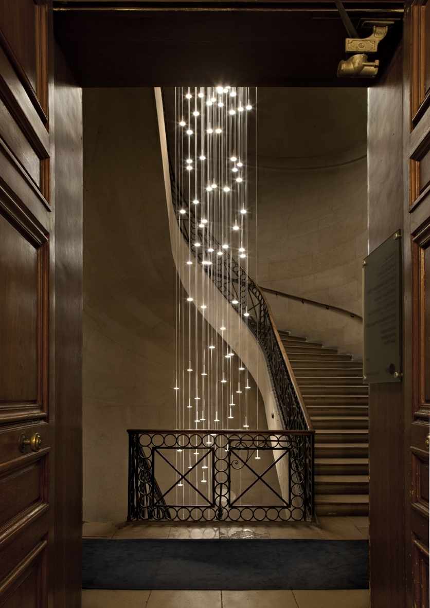 Most Current Stairway Chandeliers For Cool Stairwell Lighting : Nice Stairwell Lighting Control (View 11 of 20)