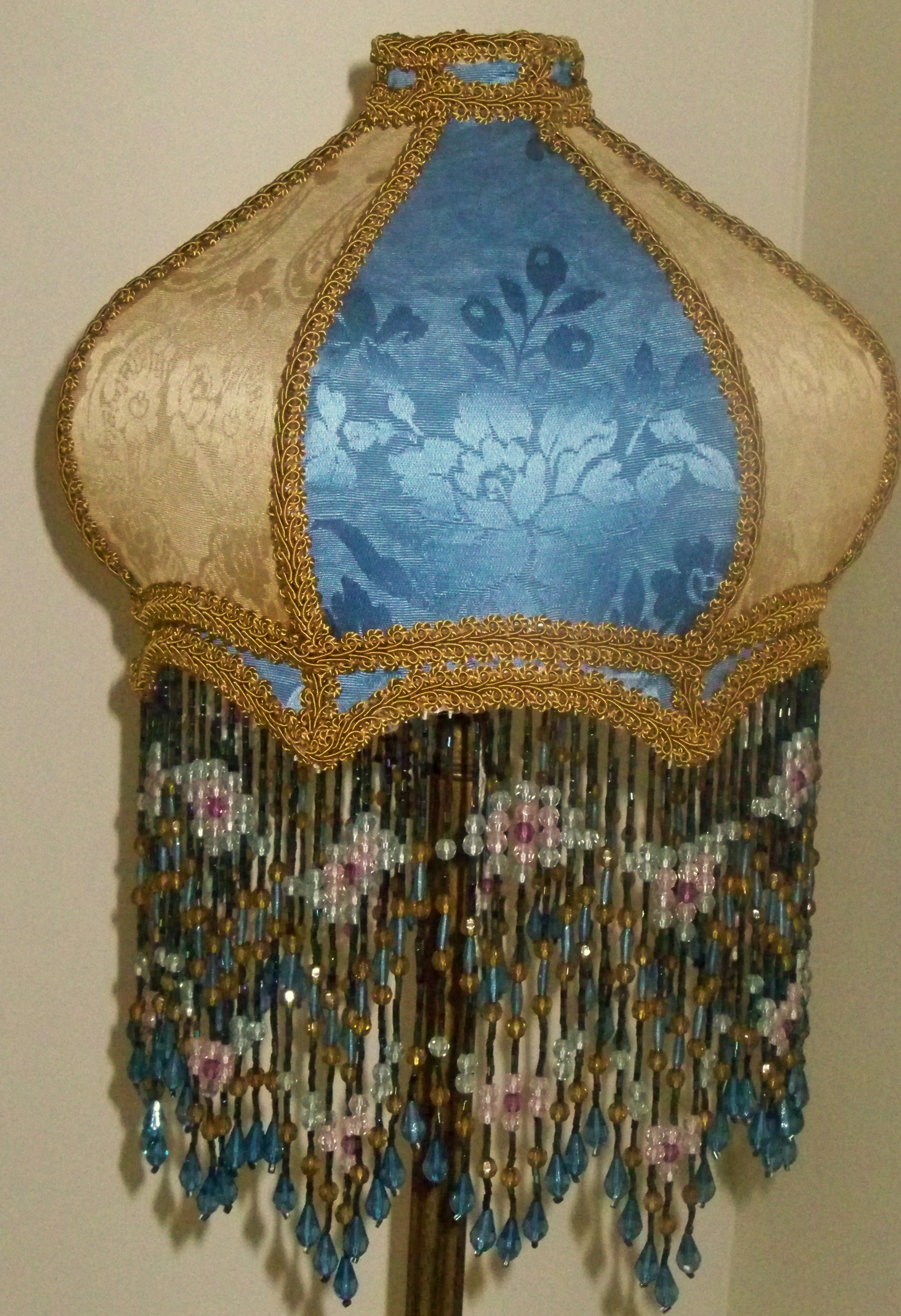 Most Current Turquoise Chandelier Lamp Shades Regarding Enchanting Victorian Lampshades – Small Custom Vintage Victorian (View 11 of 20)