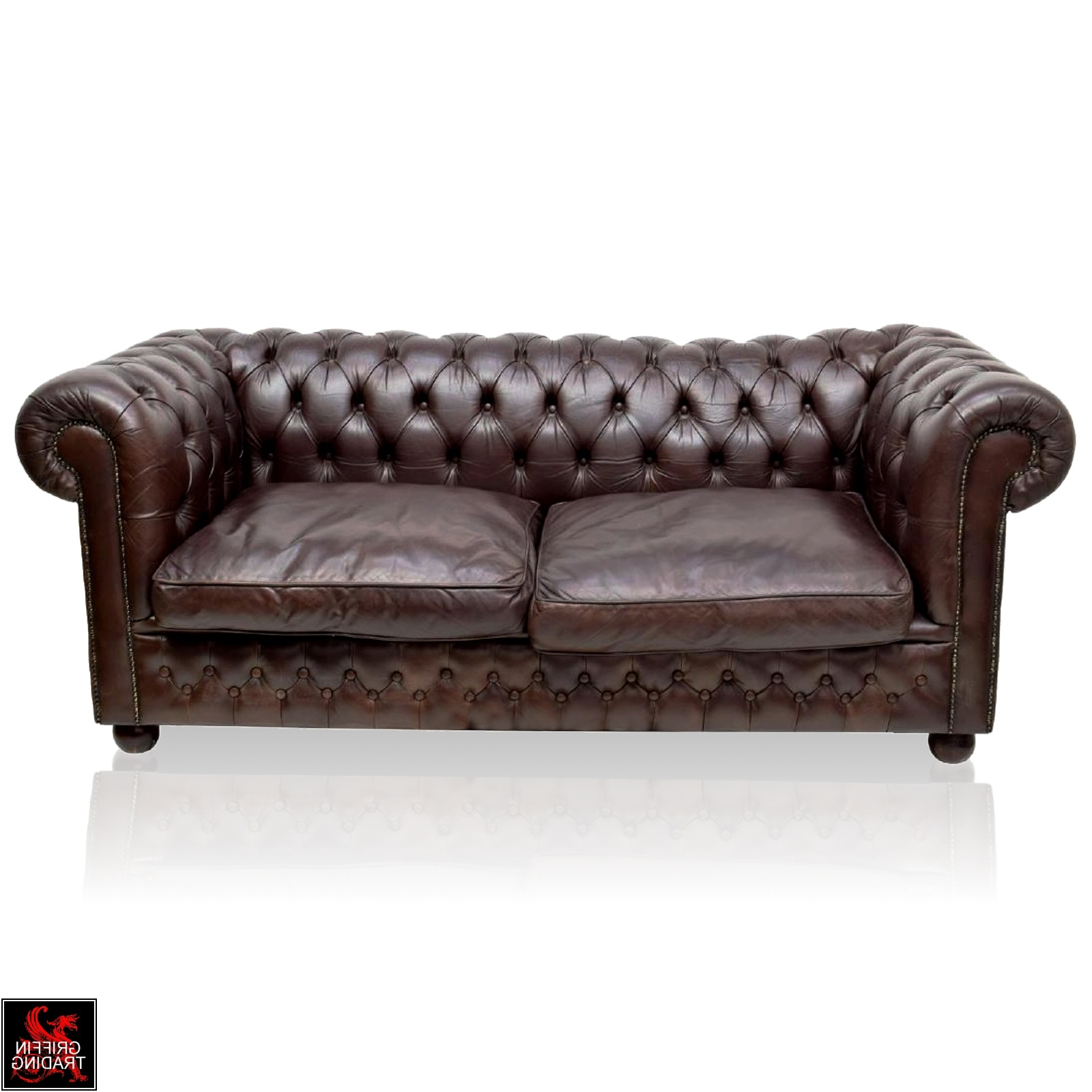 Most Current Vintage English Leather Chesterfield Sofa « Griffin Trading Company Throughout Vintage Chesterfield Sofas (View 16 of 20)