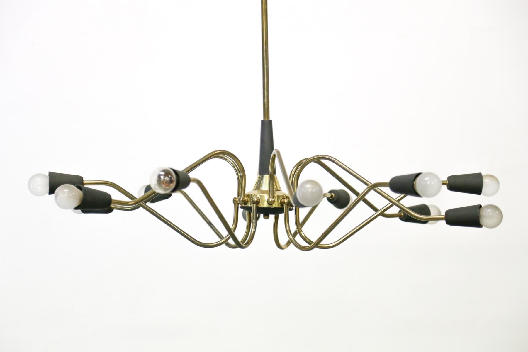 Most Current Vintage Italian Chandelier From Stilnovo For Sale At Pamono Regarding Vintage Italian Chandeliers (View 9 of 20)