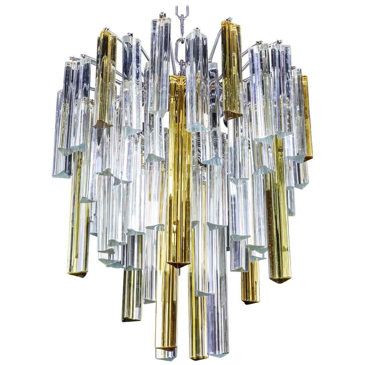"Most Current Vintage Italian Murano ""Waterfall"" Chandeliervenini, Circa 1960S Pertaining To Vintage Italian Chandeliers (View 10 of 20)"