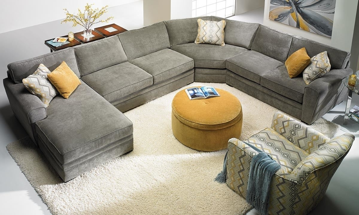 Most Popular 100X80 Sectional Sofas Intended For Furniture : Sectional Sofa Ebay Corner Couch 6 Seater 4 Recliner (View 12 of 20)