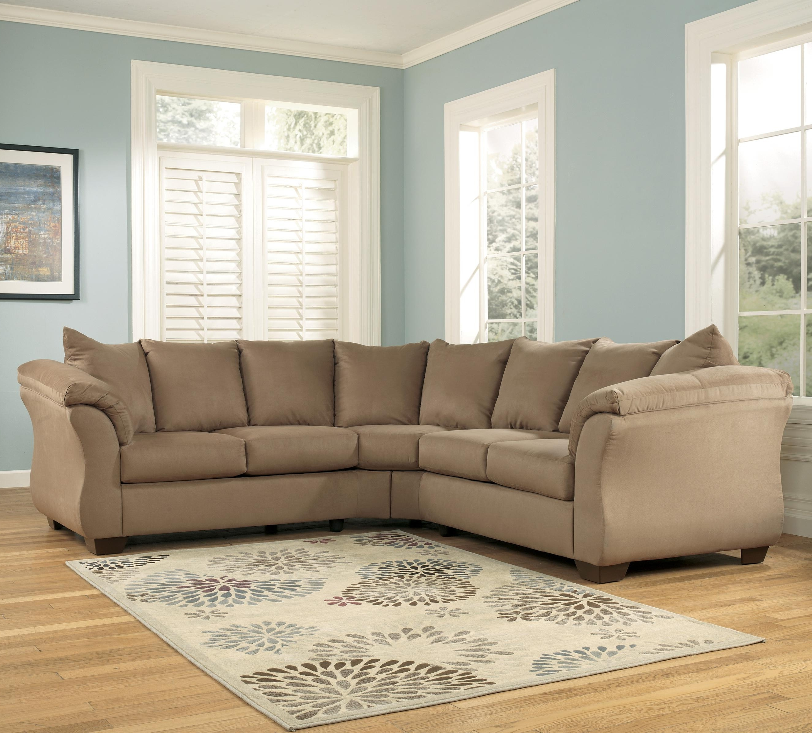 Most Popular 102X102 Sectional Sofas Pertaining To Signature Designashley Darcy – Mocha Contemporary Sectional (View 13 of 20)