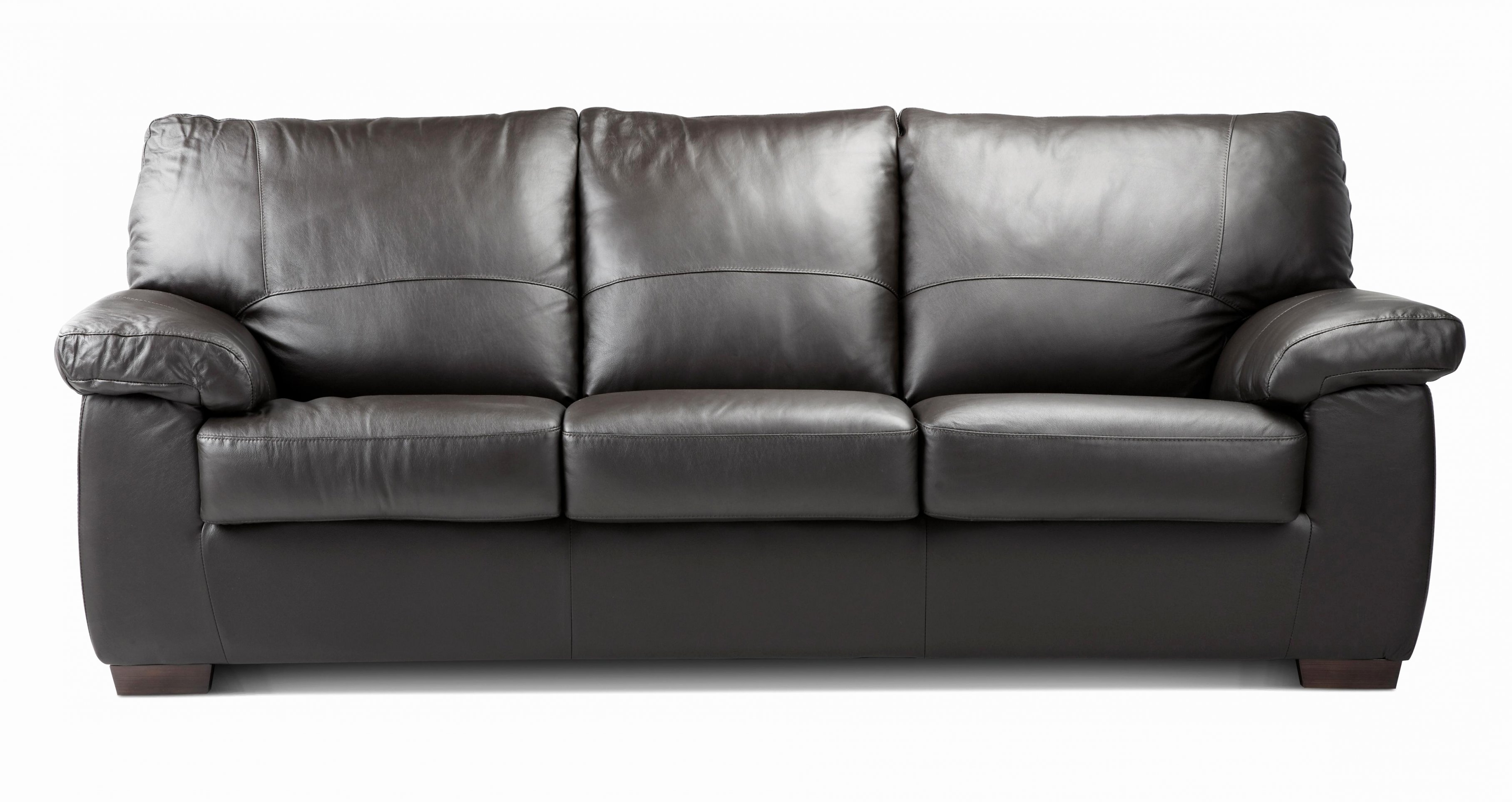 Most Popular 3 Seater Leather Sofas With Regard To 3 Seat Black Leather Sofa (View 6 of 20)