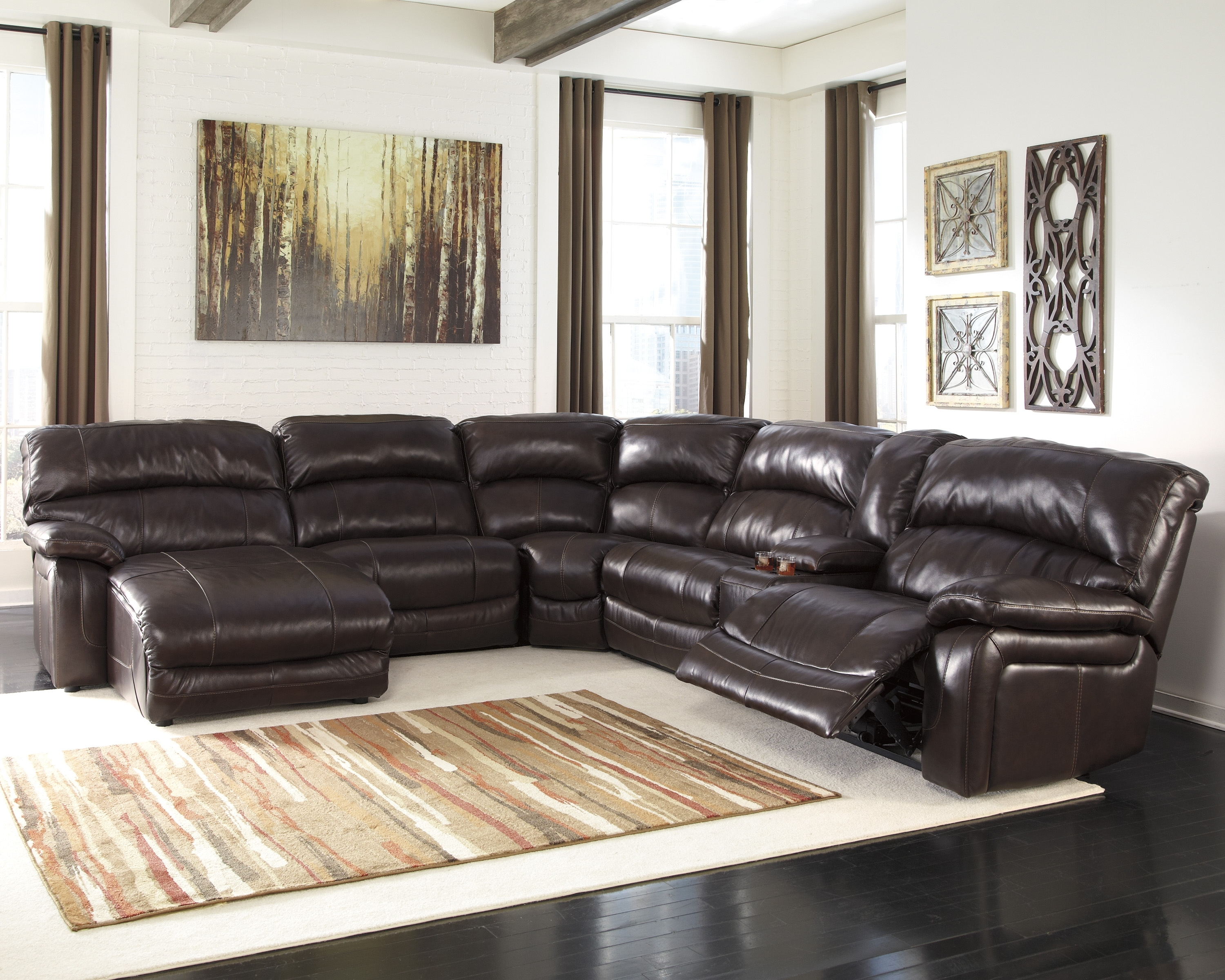 Most Popular 6 Piece Leather Sectional Sofas Pertaining To Leather Sectional Sofa With Recliner And Chaise (View 18 of 20)