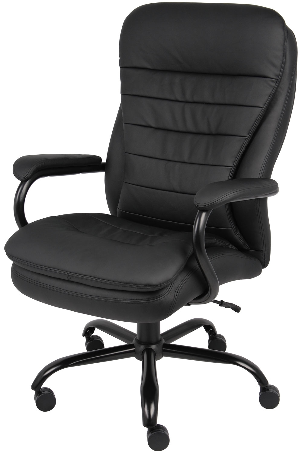 Most Popular B991 Cp Big And Tall Executive Office Chair In Caresoft Vinyl Inside Black Executive Office Chairs (View 10 of 20)