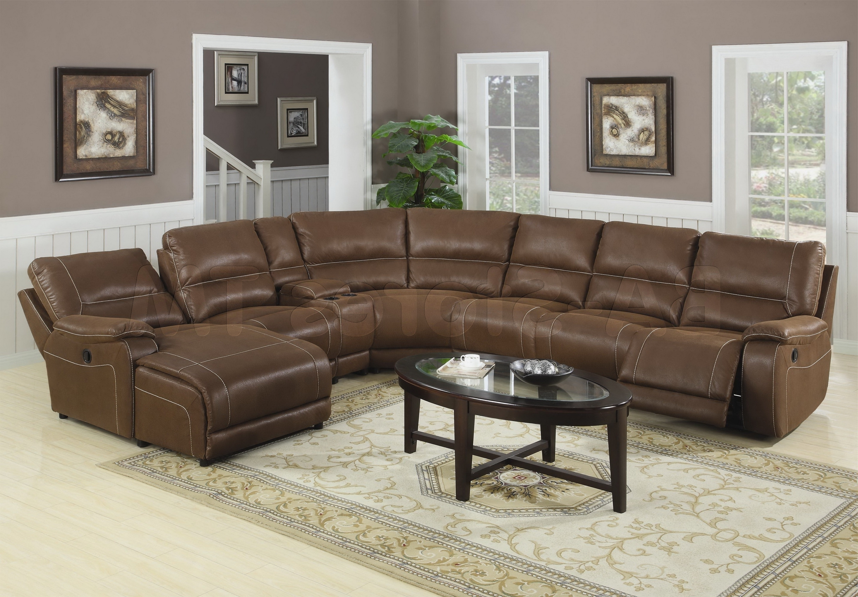 Most Popular Bentley Bonded Leather Sectional Sofa • Leather Sofa Regarding Sectional Sofas Under  (View 6 of 20)