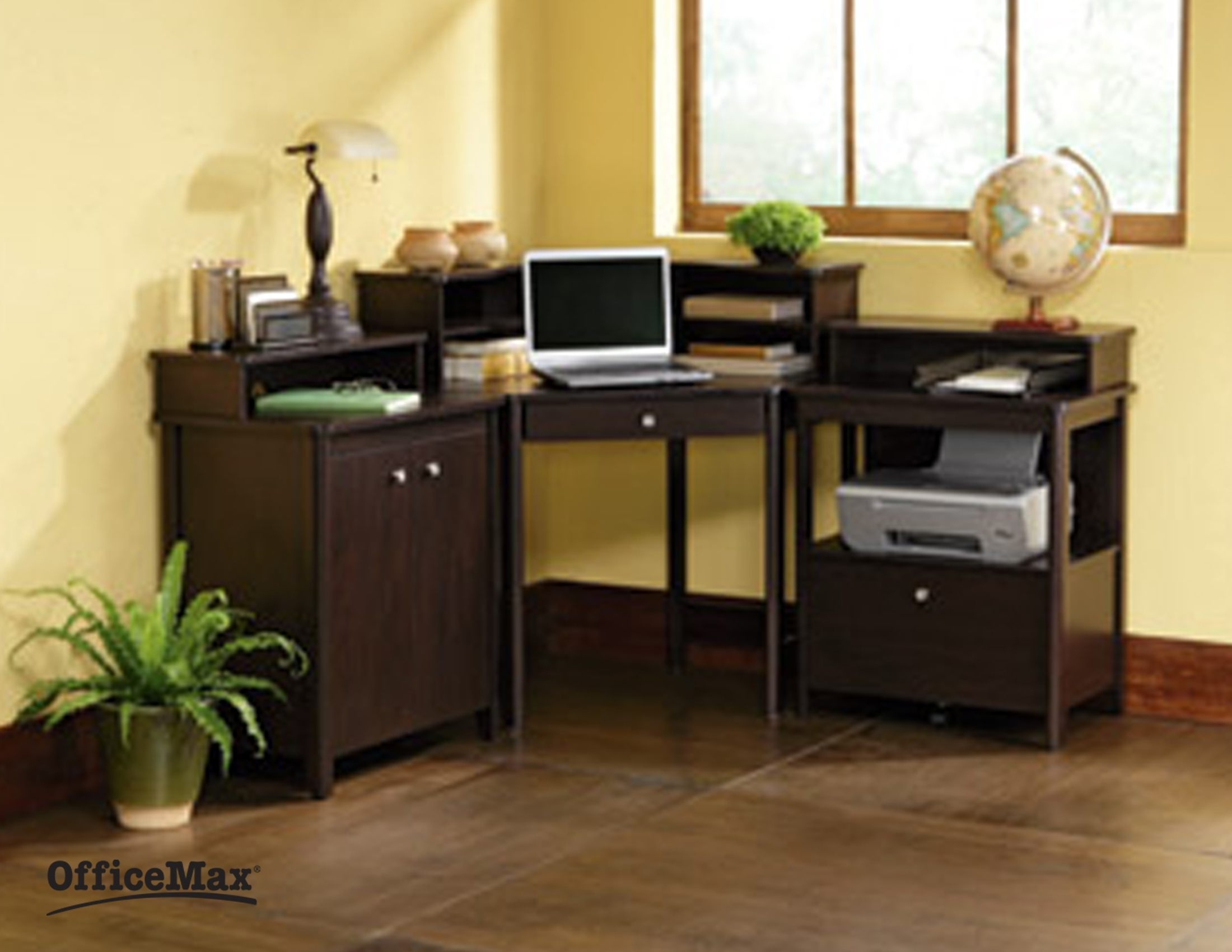 Most Popular Brown Computer Desks In Furniture : Computer Training Tables Fold Away Computer Desk Brown (View 16 of 20)