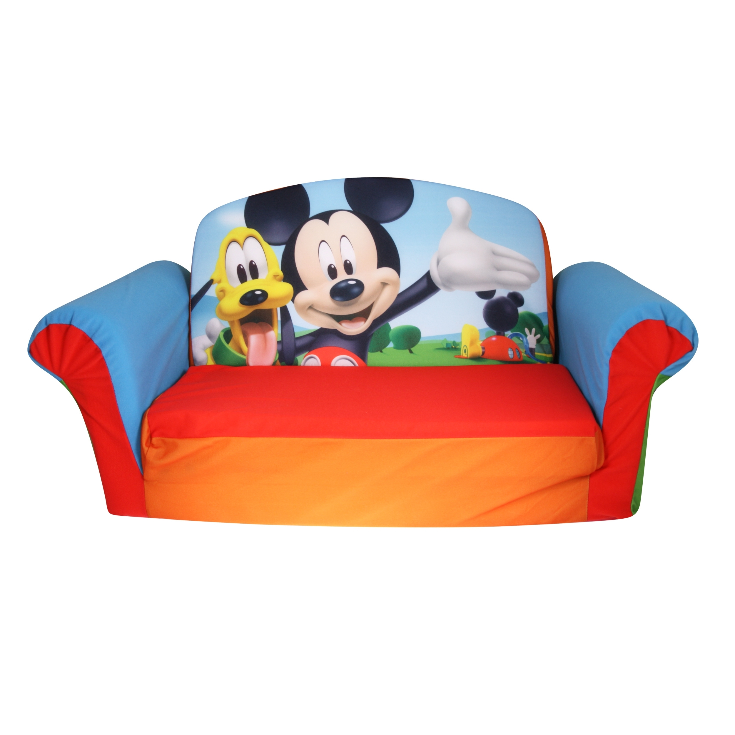 Most Popular Disney Mickey Mouse, Toddler 2 In 1 Flip Open Foam Sofa Chair Pertaining To Disney Sofa Chairs (View 12 of 20)